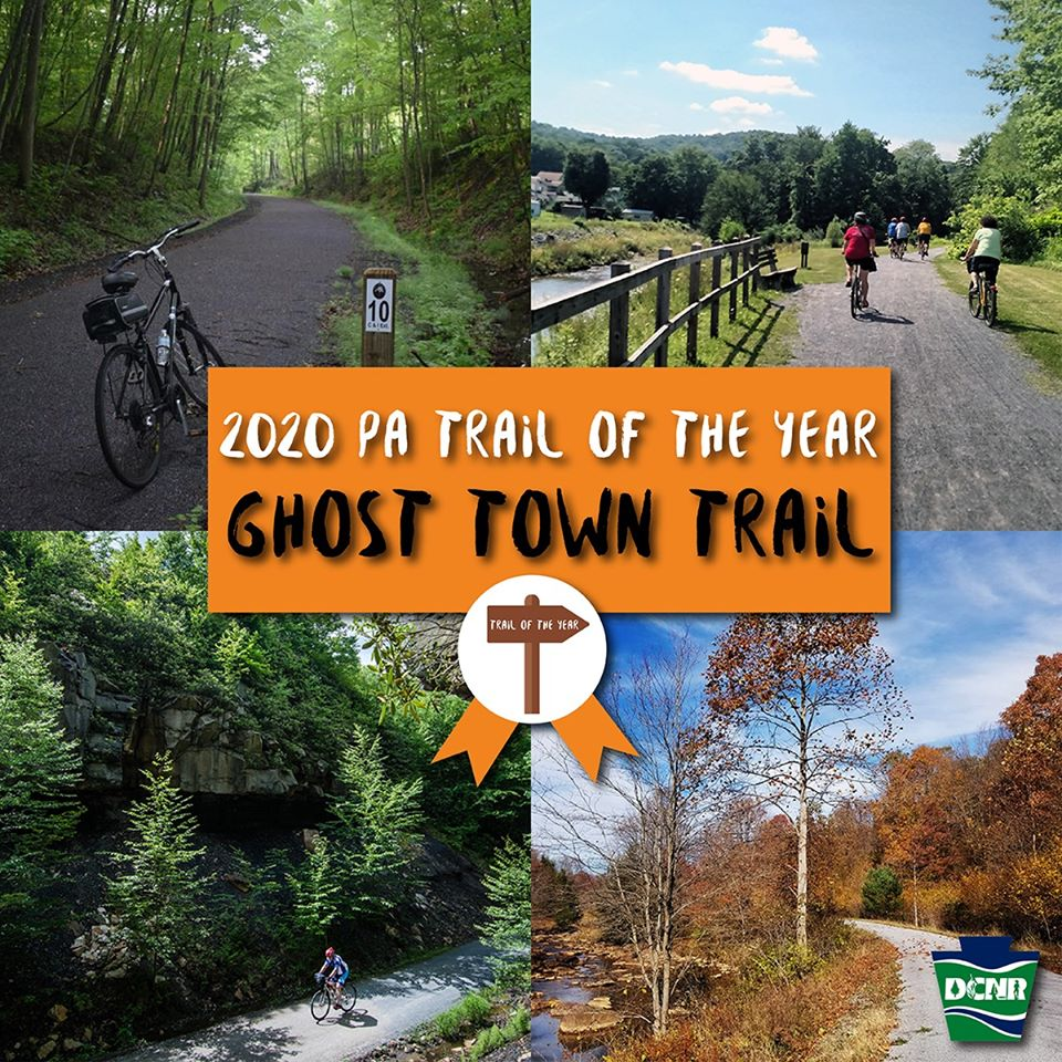 Ghost Town Trail Named PA's 2020 Trail Of The Year